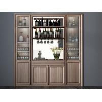 Quality Custom Public aera Furniture Walnut wood Built in Wall Wine Display Cooler and Hall Concierge cabinet wholesale