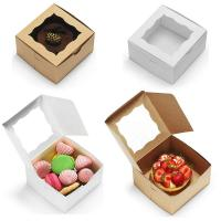 Cheap Bakery Cake Take Away Box , Food Packaging Boxes With Clear Viewing Window for sale