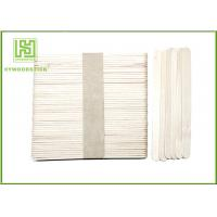 Quality Different Size Wooden Popsicle Sticks / Wooden Ice Cream Spoons With Hot Stamp wholesale