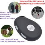 Mini Waterproof 3G GSM Personal GPS Tracker Locator Elderly Fall Detection SOS Communicator Alzheimer Keyring EV07