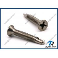 Quality Martenistic Stainless Steel 410 Philips Flat Head Self-drilling Sheet Metal Screws wholesale