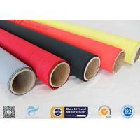 Quality Welding Curtain High Intensity 40/40g Satin Weave Silicone Coated Fiberglass Fabric wholesale