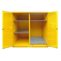 Quality Flammable Drum Storage Cabinets , Gasoline Storage Cabinets 2 Door For Oil Tank Drum wholesale