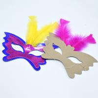 Quality Women Festival Party Decorations Paper Handicraft Masks 350gsm CCNB Material wholesale