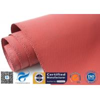 Quality 1010gsm Abrasion Resistant Red Silicone Coated Fiberglass Fabric 1mm Thickness wholesale