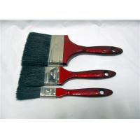 Wholesale Flat Soft Black Bristle Paint Brush With Red Wooden Handle