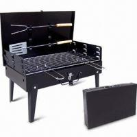 China Portable and Foldable Charcoal BBQ Grill with Two Barbecue Tools on sale