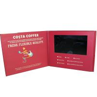 "Quality Customized Hardcover 7"" Digital Lcd Video Brochure Built In Speaker For Advertising wholesale"