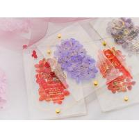 Quality acrylic invitation magnetic wedding and envelope card double layers flower wholesale