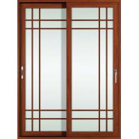 Quality White, red wood 2.0mm profile thickness aluminum sliding glass doors for study room wholesale