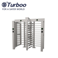 Quality 1.5mm SUS304 Full Height Turnstile gate High Door Swipe Cards Double Way wholesale