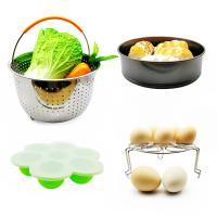 Quality Amzon Hot Sell 10 pcs Silicone Various Combination Kitchen Pot Accessories Set Inculde Non-Stick Cake Pan, Egg Bites Molds, etc wholesale