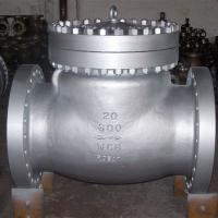 Quality ANSI 600LB RF Industrial Flanged Check Valve , Carbon Steel Swing Type Check Valve wholesale