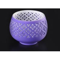Quality graceful hollow out ceramic votive candle holder wholesale fit solid candle wholesale