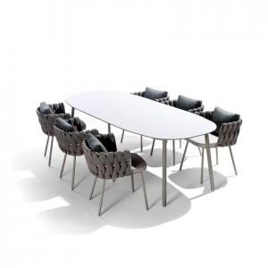 Quality L580mm W610mm Seat Rattan Indoor Dining Table And Chairs wholesale