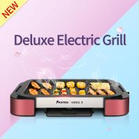China Electric Grill Pan with Non-stick Surface BBQ Griddle FST-53A red with  aluminium alloy on sale