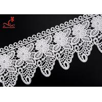 Cheap 2.2cm Cute Water Soluble Flower Lace Trim For Children Garment  for sale