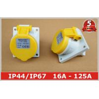 Quality Angled Panel Mounted Industrial Power Socket switch 110V 16A IP44 3 Pin For Marine wholesale