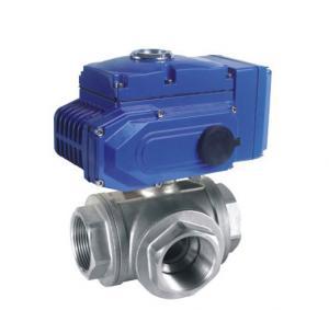 Quality pneumatic actuator flange ball valve 3 way pneumatic air actuated ball valve wholesale