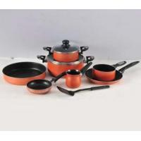 Quality aluminum non-stick cookware set 10pcs wholesale