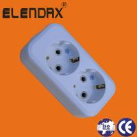 Buy cheap ABS White Two Pin European Extension Socket East Europe Market from wholesalers