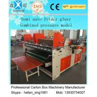 Quality Semi-Auto Gluer Folding Carton Making Machine 3.2kw 50hz / 60hz , Small Volume wholesale