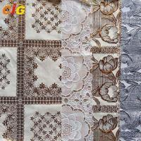 Buy cheap Metallic Printed PVC Lace Tablecloth with Various Flower Desgins from wholesalers
