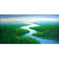 Quality crystal painting autumn scenery wall art wholesale