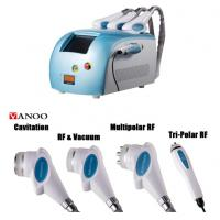 Quality Blue Portable Cavitation RF Body Slimming Machine 4 In 1 4 Handpiece Body Weight Loss Machine wholesale
