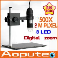 Quality Newest Aopute in Promotion Endoscope Magnifier Camera 2.0MP With 8 LED 500X USB Digital Microscope,Aylm-5 wholesale