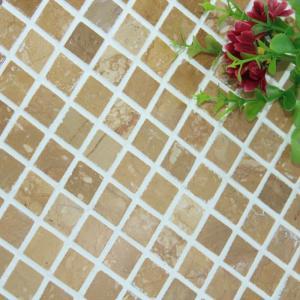 Quality Square Pattern Kitchen Backsplash Wall Tile , Stone Kitchen Backsplash Subway Tile wholesale