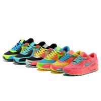 Quality N-ike air max90 running shoes men's shoes air breathable rainbow woman culture sports shoe wholesale
