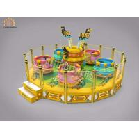 Quality Large Rotating Crazy Dance Ride Coffee Tea Cup Game 16p Capacity 2000kg Weight wholesale