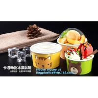 China 12oz 360ml 34oz 1000ml ice cream paper cup and paper lid,double pe coating single wall recycled 16oz icecream cup 500ml on sale