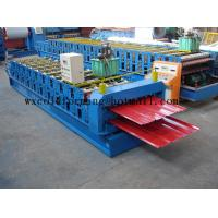 Quality Blue 5 M / Min Roof Panel Glazed Tile Roll Forming Machine With 18 Forming Station wholesale