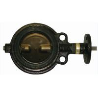 Quality wafer type soft seat manual actuator butterfly valve. wholesale