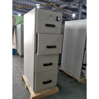 Quality Grey Steel Fire Resistant Filing Cabinets 4 Drawers For Valuable Records / Documents wholesale