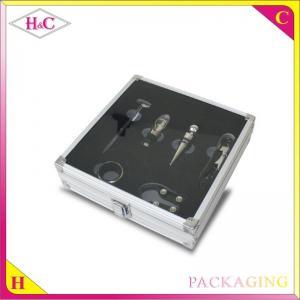 Quality Luxury aluminum wine corkscrew gift box with glass window wine opener box wholesale