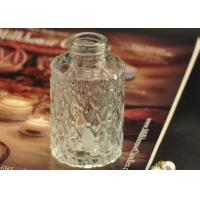 Quality Cut Glass Perfume Bottles Antique Transparent With Emboss Pattern wholesale