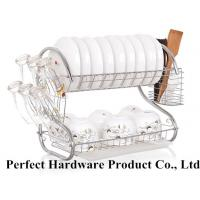 China S Shape 2 Tier Stainless Steel Kitchen Rack Dish Rack With Draining Plate Holder PT-DR004 on sale