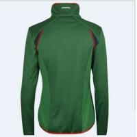 China Sport women green zip up fleece jacket for sale on sale
