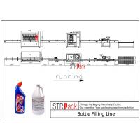 China Automatic Bottle Filling Line 2000-5000 BPH Capacity For Toilet Cleaner Liquid on sale