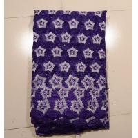 Cheap Novelty Organza Embroidery Lace Fabric , Purple for sale