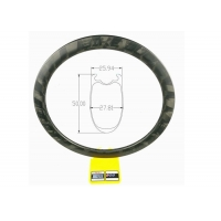 Buy cheap 425g 50mm Bike Ruote In Carbonio Tubeless Bicycle Rim 700c 24h Disc Carbon Rim from wholesalers