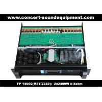 Quality FP 14000 2 x 2400W Concert Sound Equipment , 2 Channel High Stability Switching Amplifier wholesale