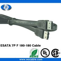 China 7Pin ESATA Extension Cable Male to Male on sale
