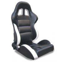 Quality Black and white Sport Racing Seats with harness / classic sports car seats wholesale