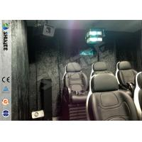 Quality Truck Mobile 5D Movie Theater , 4 Wheels Set 6 Seats Cinema Movies Theater wholesale