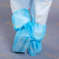 China Non Skid Fluid Proof 35g Disposable Plastic Shoe Covers on sale