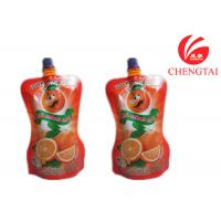 Quality Orange Juice / Water Shaped Drink Stand Up Pouch With Spout Bag wholesale